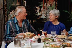 Couple dining; Size=240 pixels wide